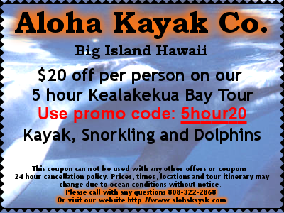 kailua kona big island kayak coupons for the 1 ranked company. Black Bedroom Furniture Sets. Home Design Ideas