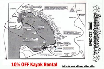This Map is an overview of how to get from Aloha Kayak Co. to Kealakekua Bay